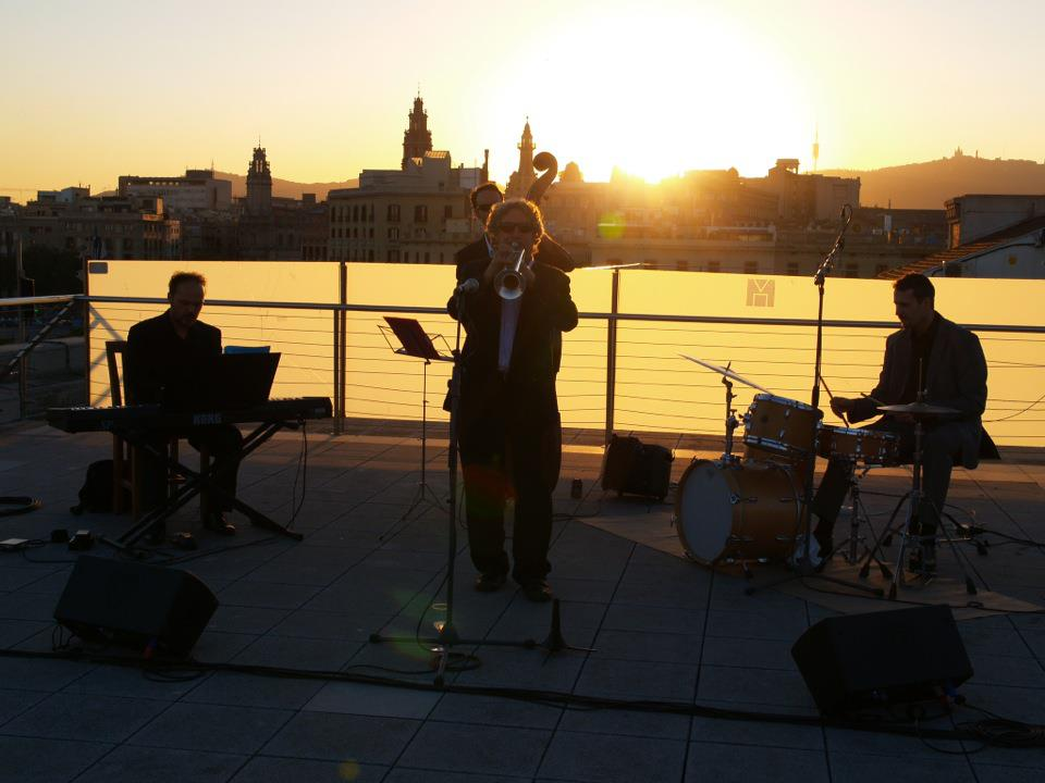 Rooftop jazz in Barcelona, photo by Dr. Jenny Fremlin